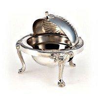 Silver Plated Caviar Server Dome Shape
